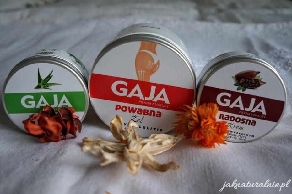 kosmetyki naturalne organiczne kremy Gaja